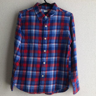 ジーユー(GU)のgu 男の子ネルシャツ 140サイズ(Tシャツ/カットソー)