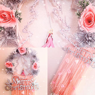 ディズニー(Disney)のオーロラ姫 メリークリスマスドリームキャッチャー(リース)