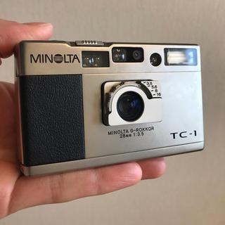 コニカミノルタ(KONICA MINOLTA)の【動作確認済】MINOLTA ミノルタ TC-1  +付属品(フィルムカメラ)