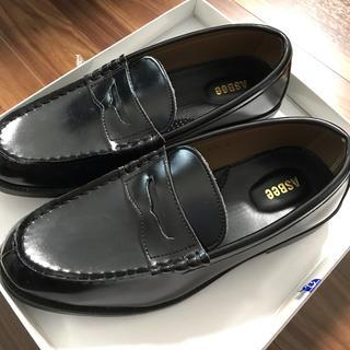 アスビー(ASBee)のアスビー  黒 男子靴 25センチ(フォーマルシューズ)
