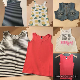 ジーユー(GU)の夏物 タンクトップ 6点まとめ売り(Tシャツ(半袖/袖なし))
