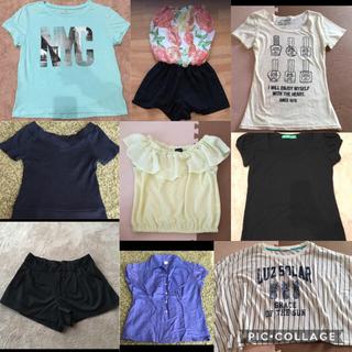 ジーユー(GU)の夏物 ティーシャツ系 9点 まとめ売り(Tシャツ(半袖/袖なし))