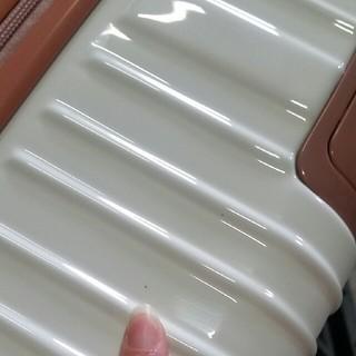 専用 LLサイズ アルミ風 スーツケース ホワイト×ローズ(スーツケース/キャリーバッグ)