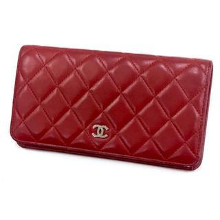 6f14d9826b45 シャネル(CHANEL)のシャネル マトラッセ 2つ折り 長財布 ルージュカラー 赤(財布