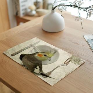オカメインコ インコ食卓マット♪ 新品未使用品 送料無料♪(鳥)