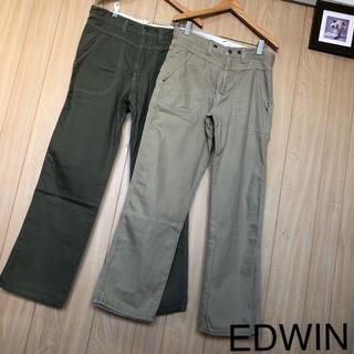 エドウィン(EDWIN)の【美品】EDWIN パンツ M 2枚セット(ワークパンツ/カーゴパンツ)