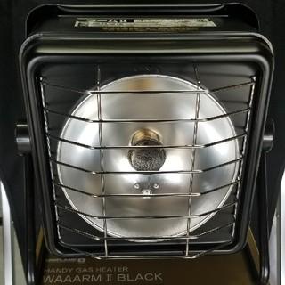ユニフレーム(UNIFLAME)のユニフレーム ハンディガスヒーター ワーム2 ブラック 開封品(ストーブ/コンロ)