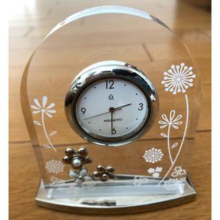 ミキモト(MIKIMOTO)のミキモト・置き時計・シルバー (置時計)