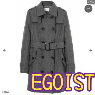 エゴイスト(EGOIST)のEGOIST⭐️ウールトレンチワンピースコート  (トレンチコート)