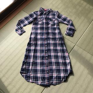 インナープレス(INNER PRESS)のインナープレス  チェックシャツ  ワンピース  140(ワンピース)
