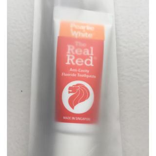 【シンガポールのお土産】The Real Red 歯磨きセット(歯ブラシ/デンタルフロス)