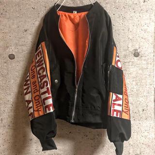 MA_1 ブラックビッグシルエット(ミリタリージャケット)