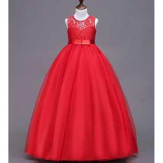 キッズドレス◆王女風◆レッド◆結婚式 発表会(ドレス/フォーマル)