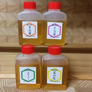 蜂蜜の日【非加熱・生はちみつ】4種お試しセット・50g×4(4本)(その他)