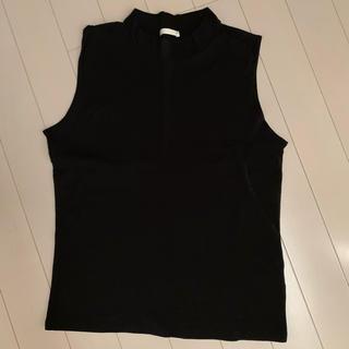 GU - GUボトルネックノースリーブTシャツ