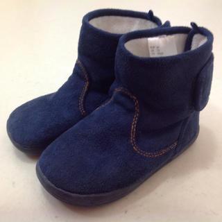 ムジルシリョウヒン(MUJI (無印良品))のH&M ネイビー ブーツ 15㎝ シンプル 無印好きな方に(ブーツ)