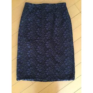 アーモワールカプリス(armoire caprice)の【リバーシブル】花柄レーススカート(ひざ丈スカート)