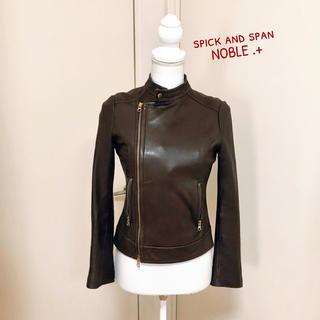 スピックアンドスパンノーブル(Spick and Span Noble)のよっちゃんさま専用★Spick&Span Noble 羊革レザーブルゾン 36(ライダースジャケット)