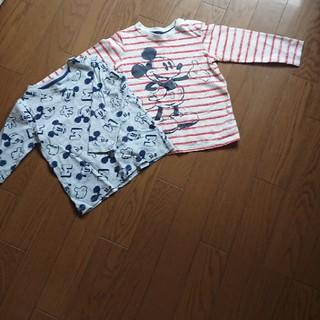 エイチアンドエム(H&M)の☆ミッキーマウス☆ロングTシャツ二枚セット(Tシャツ/カットソー)