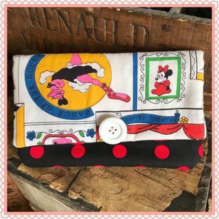ディズニー(Disney)の【最終価格】ハンドメイド レア柄ヴィンテージミッキーミニー 長財布 通帳ケース(財布)