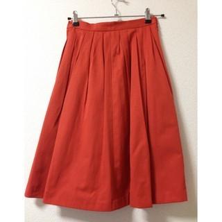 テチチ(Techichi)のTechichi フレアスカート オレンジ(ひざ丈スカート)