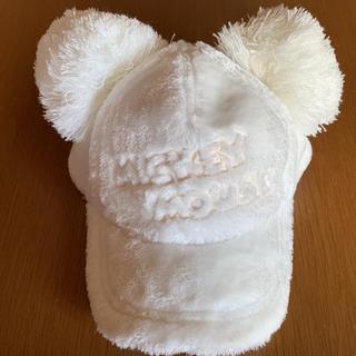 Disney - ミッキー ポンポンファーキャップ 白