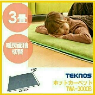 電気カーペット3畳用(ホットカーペット)