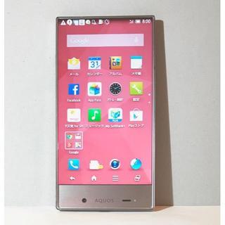 シャープ(SHARP)のAQUOS CRYSTAL 305SH ピンク アンドロイド スマホ 本体(スマートフォン本体)