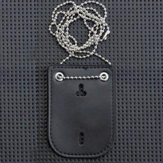 ポリスバッジ レザーネックホルダー (襟章)