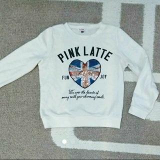 ピンクラテ(PINK-latte)の140 ピンクラテ  白 トレーナー(Tシャツ/カットソー)