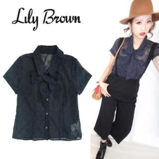 Lily Brown - LilyBrown クラシックボウタイブラウス ❥