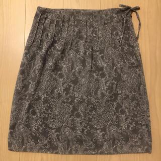 ムジルシリョウヒン(MUJI (無印良品))の無印良品 ペイズリー柄膝丈スカート(ひざ丈スカート)