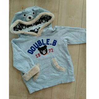 ダブルビー(DOUBLE.B)の⭐DOUBLE_B⭐とっても可愛いモコモコの着ぐるみトレーナー90(Tシャツ/カットソー)