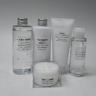 ムジルシリョウヒン(MUJI (無印良品))の新品 無印良品 敏感肌用化粧品&スウィートアーモンドオイル・計5点セット(化粧水 / ローション)