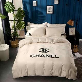 シャネル(CHANEL)の【未使用寝具バーセット】 2枚枕カバー*4点セット  (シーツ/カバー)