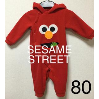 セサミストリート(SESAME STREET)のエルモ 防寒用カバーオール 80size(カバーオール)