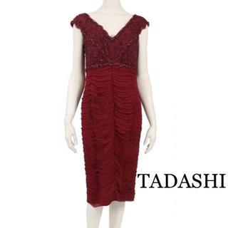 タダシショウジ(TADASHI SHOJI)のTADASHI ◆ ワンピース 刺繍 ボルドー(ひざ丈ワンピース)