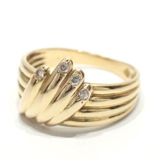 ジュエリーマキ(ジュエリーマキ)のE154 中古 ジュエリーマキ K18 ダイヤモンド 0.04ct リング 指輪(リング(指輪))