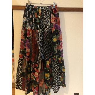 キートス(KiiTOS)のリバーシブル花柄ロングスカート(ロングスカート)