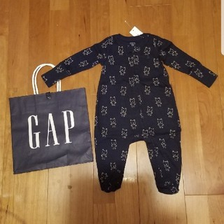 ベビーギャップ(babyGAP)の60 足つきロンパース 長袖 クマ(ロンパース)