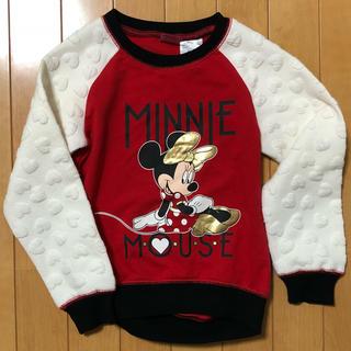 ディズニー(Disney)の120cm ミニー トレーナー(Tシャツ/カットソー)