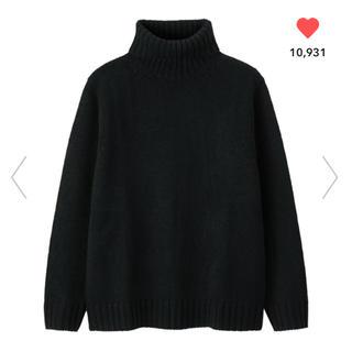 ジーユー(GU)のGU ジーユー ローゲージタートルネックセーター  ブラックMサイズ (ニット/セーター)