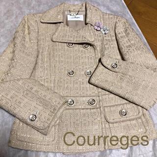 クレージュ(Courreges)のCourreges   ツィードジャケット  38  超美品(テーラードジャケット)