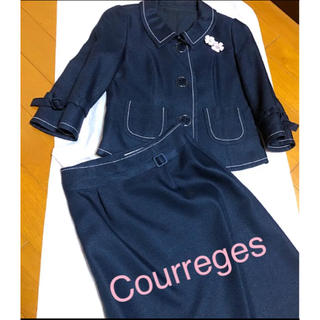 クレージュ(Courreges)のXmasセール  Courreges  スーツ ステッチが大人可愛いらしさを。(スーツ)