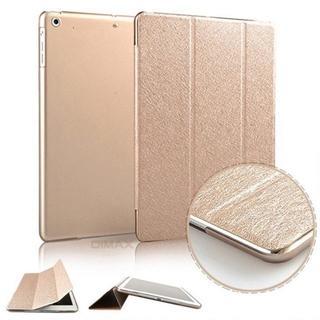 iPad mini4 ゴールド 薄型 スリム 手帳型ケース (iPadケース)