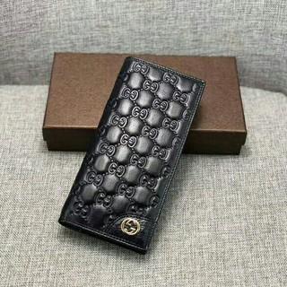 Gucci - GUCCI グッチ 長財布 グッチシマ  ブラック レザー  322598
