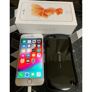 アイフォーン(iPhone)のiPhone6s 64GB iFace付き ローズゴールド au (スマートフォン本体)