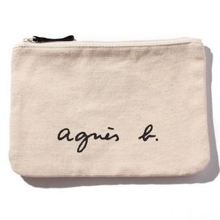 agnes b. - 新品 agnes b. ロゴポーチ 小物入れ アイボリー