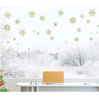 ウォールステッカー 雪花 ホログラム 60031 雪の結晶(その他)