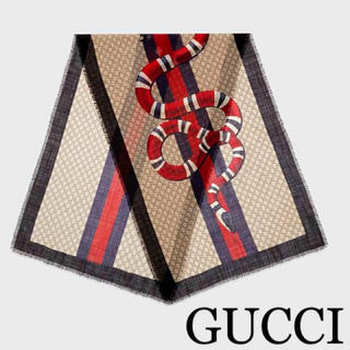 Gucci - 本日価格☆正規品☆GUCCI スネーク 大判ストール